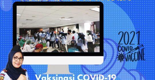 Antrian Mengular : Tenaga Medis dan Paramedis RSU Pengayoman Cipinang Tetap Semangat Melayani Peserta Vaksinasi Covid-19