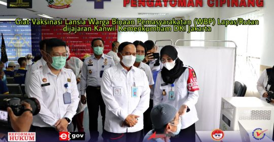 215 Orang WBP Lansia dari Lapas/Rutan Serbu RSU Pengayoman