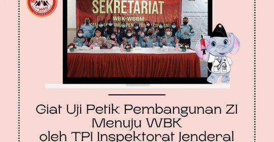 Giat Uji Petik Pembangunan Zona Integritas RSU Pengayoman Cipinang Menuju WBK oleh TPI Inspektorat Jenderal Kementerian Hukum dan HAM RI