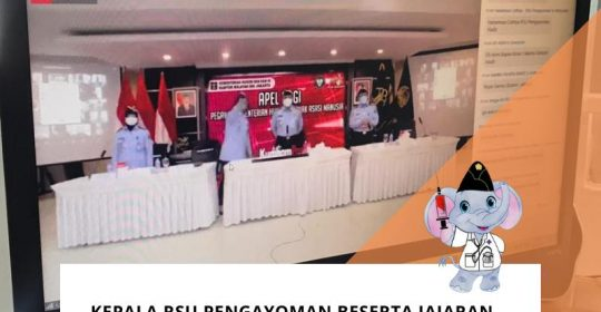 Karumkit Beserta Jajaran Hadiri Apel Pagi Virtual Bersama Kepala Kantor Wilayah Kemenkumham DKI Jakarta