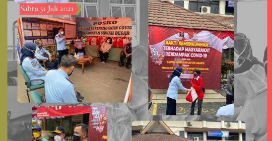 Karumkit Ikuti Giat Kumham Peduli Kumham Berbagi yang dilakukan dibeberapa daerah Wilayah DKI Jakarta bekerja sama dengan Pengwil DKI Jakarta